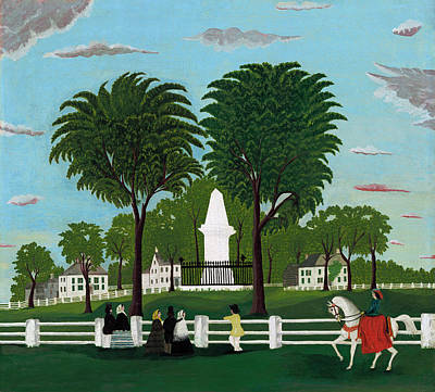 Painting - Lexington Battle Monument by American 19th Century