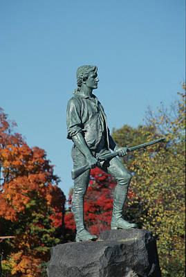 Photograph - Lexington Minuteman In Autumn by John Clark