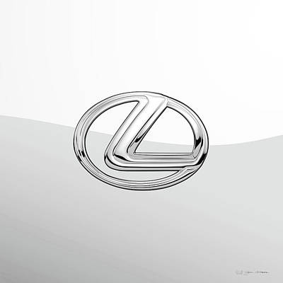 Digital Art - Lexus 3 D Badge Special Edition On White by Serge Averbukh