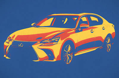 Mixed Media - Lexus Pop Art by Dan Sproul