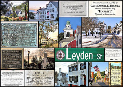 Photograph - Leyden Street Plymouth Ma by Janice Drew