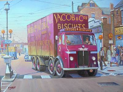 Painting - Leyland Octopus In London. by Mike Jeffries