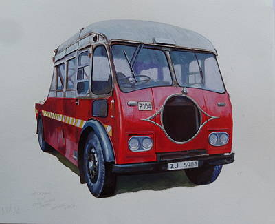 Art Print featuring the painting Leyland Wrecker Cie by Mike Jeffries