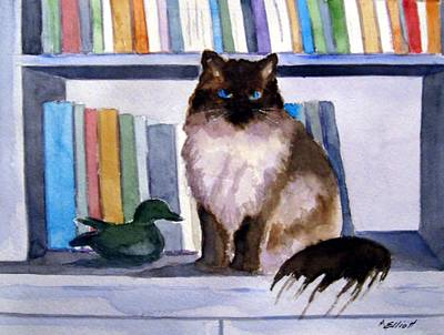 Library Painting - Lhasa by Marsha Elliott