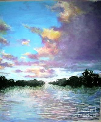 Painting - L'heure Mauve by Marie-Line Vasseur
