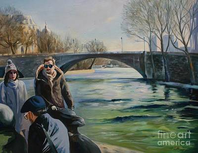 Painting - l'hiver a Paris  by Lin Petershagen