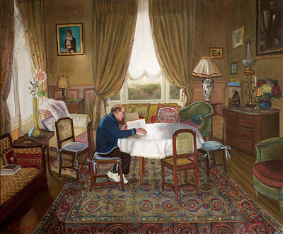 L'homme Qui Lit Art Print by Dominique Amendola