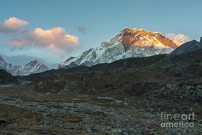 Photograph - Lhotse Alpenglow by Mike Reid