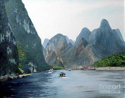 Li River China Art Print by Marie Dunkley