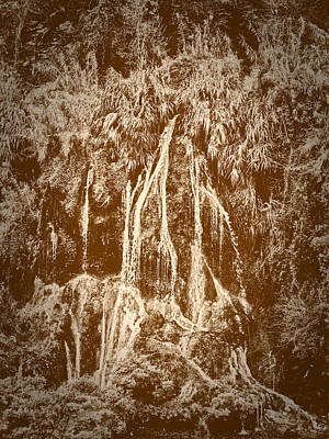 Print featuring the photograph Li River Waterfall by Tom Vaughan