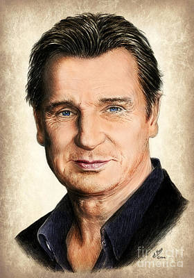 Painting - Liam Neeson Colour Ver 2 by Andrew Read