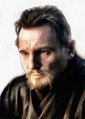 Liam Neeson Art Print by Sergey Lukashin