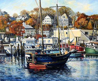 Painting - Lianas Ransom In Gloucester Harbor by Eileen Patten Oliver