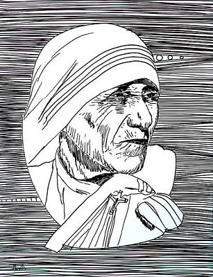 Mother Theresa Painting - Lib-968 by Mr Caution