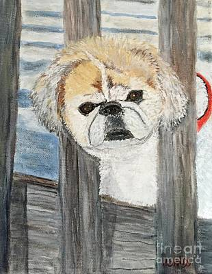 Painting - Libby  The Pekingese by Anne Sands