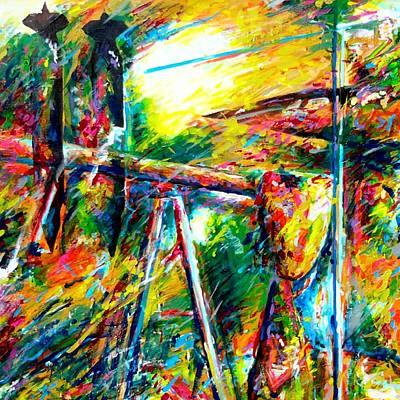Iraq Painting - Liberate  by Dennis McCann