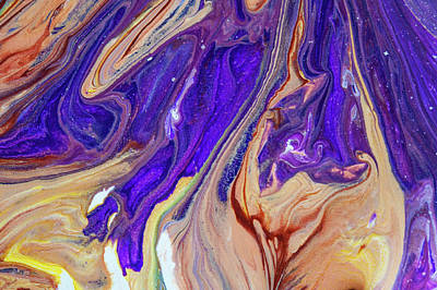 Painting - Liberation 3. Abstract Fluid Acrylic Pour by Jenny Rainbow