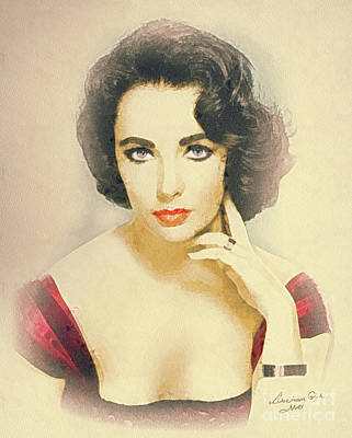 Elizabeth Taylor Painting - Liberian Girl by Mo T