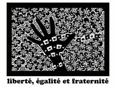Liberte, Egalite Et Fraternite Art Print