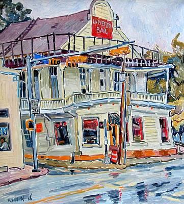 Liberty Bar In San Antonio. Rainy Day. Art Print by Vitali Komarov