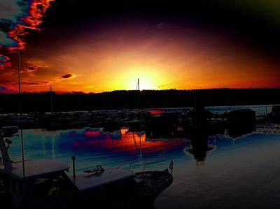 Photograph - Liberty Bay Sunset by Tim Allen