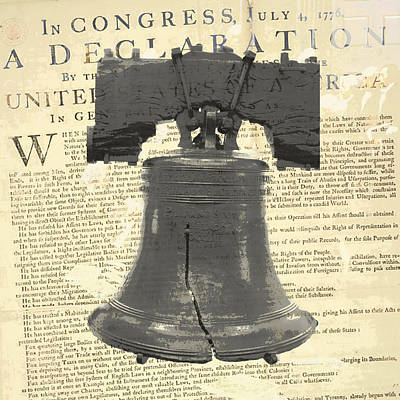 Declaration Of Independence Mixed Media - Liberty Bell by Brandi Fitzgerald