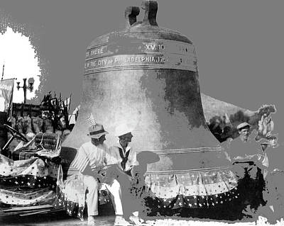 Photograph - Liberty Bell Float In A Ww1 Parade Tucson Arizona Circa 1916 Color Added 2015 by David Lee Guss