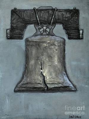 Liberty Bell - Gray Muted Tone Art Print