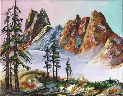 Painting - Liberty Bell Mountain by Sherry Shipley