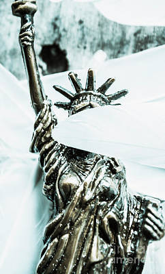 Political Photograph - Liberty Blinded By Corruption by Jorgo Photography - Wall Art Gallery