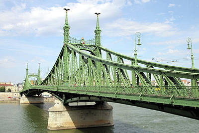 Photograph - Liberty Bridge Across The River Danube by Fran West