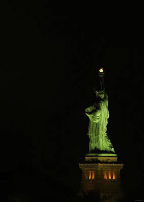 Photograph - Liberty By Night by Brenda Conrad