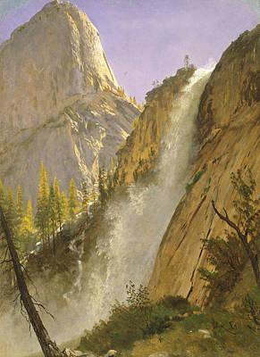 Yosemite Painting - Liberty Cap, Yosemite Valley by Albert Bierstadt