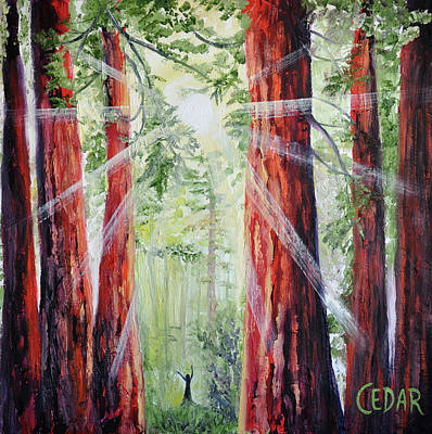 Giant Sequoia Painting - Liberty by Cedar Lee