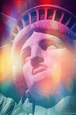 Liberty Painting - Liberty Colors by Lutz Baar