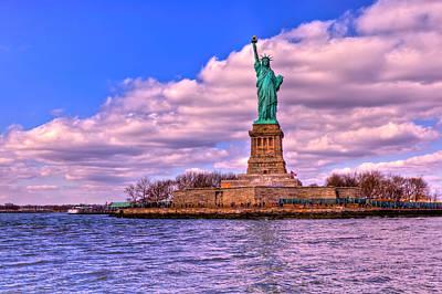 New York City Skyline Photograph - Liberty by David Hahn