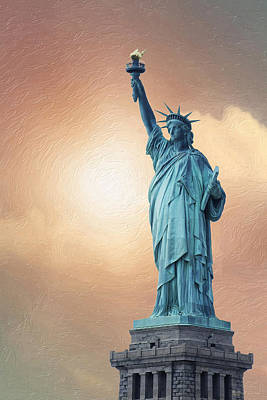 Digital Art - Liberty Enlightening The World by Serge Averbukh