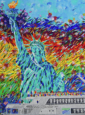 Painting - Liberty Freedom  by Art Mantia