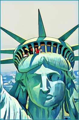 Digital Art - Liberty Head by Gary Grayson