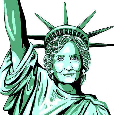 Digital Art - Liberty Hillary by Konni Jensen
