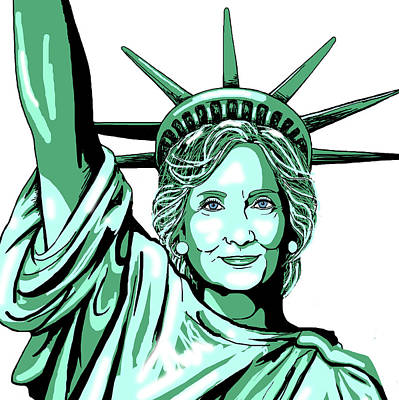 Hillary Clinton Digital Art - Liberty Hillary by Konni Jensen
