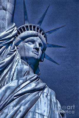Photograph - Liberty In Blue  by Dyle   Warren