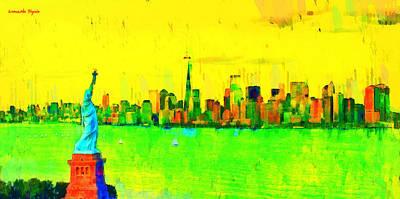 Liberty In New York - Pa Art Print