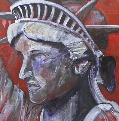 Liberty In Red Original by Mary Gallagher-Stout