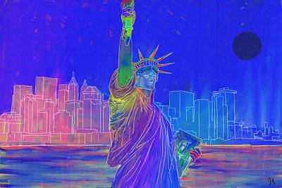 Painting - Liberty - Inverted by Jeremy Aiyadurai