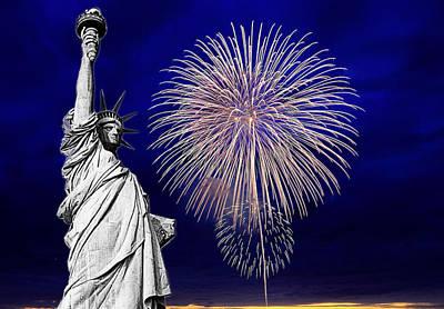 Digital Art - Liberty Iv by  Newwwman
