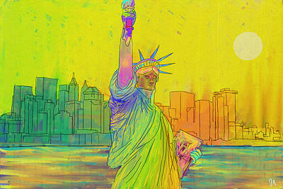 Painting - Liberty by Jeremy Aiyadurai