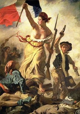 Soldier Painting - Liberty Leading The People by Ferdinand Victor Eugene Delacroix