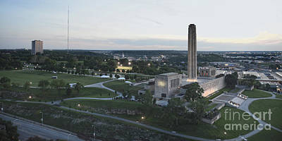 Photograph - Liberty Memorial And Bma Building by Catherine Sherman