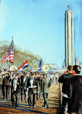 Liberty Memorial Kc Veterans Day 2001 Art Print by Carolyn Coffey Wallace